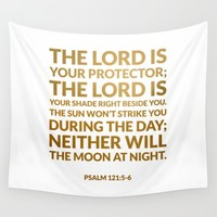 Psalm 121:5-6 Wall Tapestry by Cooledition