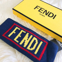 Fendi Blue Logo Headband