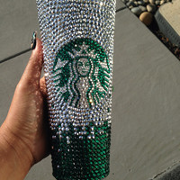 Custom Designed Bling Starbucks Tumblers 24oz. - Made to Order - PROMO PRICING UNTIL 8.15.14