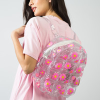 Pink Floral Inflatable Backpack