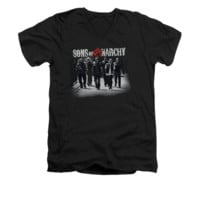 SONS OF ANARCHY ROLLING DEEP Short Sleeve V Neck T-Shirt