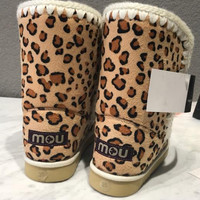 MOU Fashion leisure flat bottomed snow boots