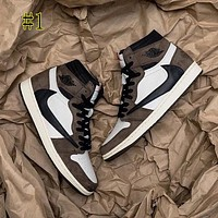 NIKE Air Jordan 1 new barb high top sneakers basketball shoes couple casual shoes