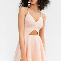 Kimchi Blue Cutout Lace Fit + Flare Dress - Urban Outfitters