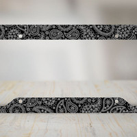 Paisley License Plate Frame, Black Paisley Car Tag Frame, Paisley License Plate Holder, Cute License Plate Frame-30-516