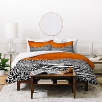 Bird Ave Texas Longhorns Orange Duvet Cover
