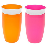 Munchkin Miracle 360 Sippy Cup, Pink/Orange, 10 Ounce, 2 Count