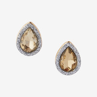glitter stone teardrop earrings