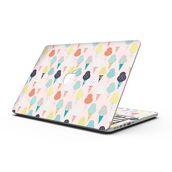 The All Over Pink Ice Cream Cone Pattern - MacBook Pro with Retina Display Full-Coverage Skin Kit