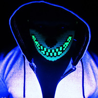 Glow in the Dark Wolf Kandi Mask Made For Ravers By Raver, Rave wear and accessories, For music festivals, edc, ultra, electric carnival,