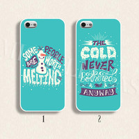 Disney frozen Olaf phone case for  iPhone 4/4s 5/5s Galaxy s3 s4 s5 Hard plastic and soft Rubber