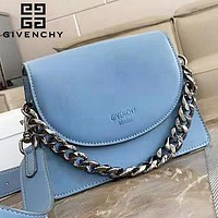 Givenchy New fashion leather chain handbag shoulder bag crossbody bag Blue