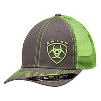 Ariat Mens Grey and Lime Ball Cap 1595123