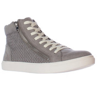 Steve Madden Elyka Perforated High Top Fashion Sneakers - Gret Multi