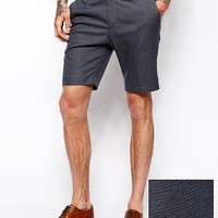 ASOS Skinny Fit Shorts In Houndstooth