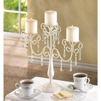 Beautiful Ivory Elegance Candelabra