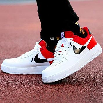 Nike Air Force One AF1 NBA Sneaker Silk Contrast Red