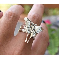 Renewal Luna Moth Ring Set