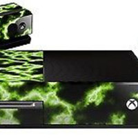 Bundle Decal Skin Set For XBOX One Console, Kinect and Two Xbox One Controllers