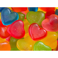 Jelly Filled Mini Gummy Hearts Candy: 5LB Bag