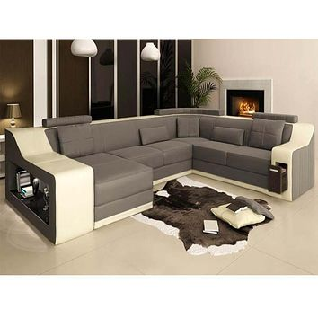 Young Crafted Quality Construct Fabric Sectional Sofa Set