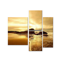 Modern Sea of Calming Waters Landscape Canvas Wall Art Oil Painting