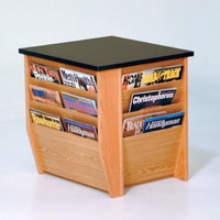 "Dakota Wave End Table with Magazine Pockets (Light Oak) (20.75""H x 19""W x 21""D)"
