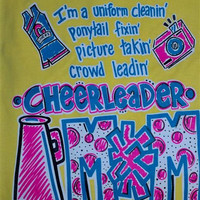 Southern Chics Funny Cheer Mom Cheerleader Girlie Bright T Shirt