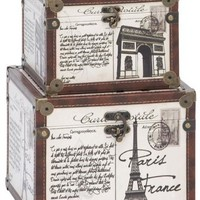 La France Boxes - Set of 2 - Decorative Boxes - Home Accents - Home Decor | HomeDecorators.com