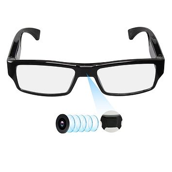 Spy Camera Glasses with Video Support Up to 32GB TF Card 1080P Video Camera Glasses Portable Video Recorder