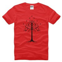 Tree of Gondor Lord of the Rings Movie Men's T-Shirt T Shirt For Men 2016 Short Sleeve Cotton Novelty Top Tee Camisetas Hombre