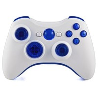 Xbox 360 Modded Controller Quickscope Drop Shot Auto Aim Sniper Breath More Mod Controller COD Ghosts Black Ops 2 Rapid fire White Ice Blue