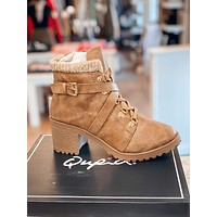 On The Line Boots - Taupe