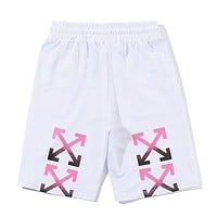 Off White Fashion Casual Simple Shorts