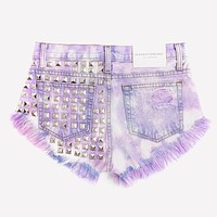 Dangers Love Clouds Studded Vintage Shorts