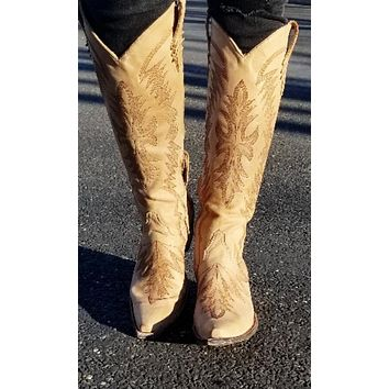 Old Gringo Moreen Tall Boot~ Bone~ Exclusive Cowgirl Kim Stitching