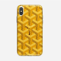 Goyard Destkop Wallpaper iPhone XS Max Case