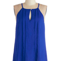ModCloth Festival Mid-length Sleeveless Style a Minute Top in Blue