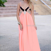 LINCOLN MAXI , DRESSES, TOPS, BOTTOMS, JACKETS & JUMPERS, ACCESSORIES, 50% OFF SALE, PRE ORDER, NEW ARRIVALS, PLAYSUIT, COLOUR, GIFT VOUCHER,,MAXIS,Orange,Sequin,SLEEVELESS Australia, Queensland, Brisbane