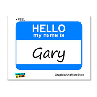 Gary Hello My Name Is Sticker
