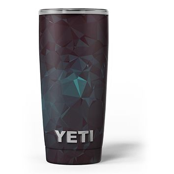 Deep Sea Teal Geometric Shapes - Skin Decal Vinyl Wrap Kit compatible with the Yeti Rambler Cooler Tumbler Cups