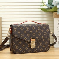 LV Louis Vuitton Fashion Women Leather Shoulder Bag Chic Handbag Crossbody