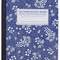 Blueberry Decomposition Book: College-ruled Composition Notebook With 100% Post-consumer-waste Recycled Pages