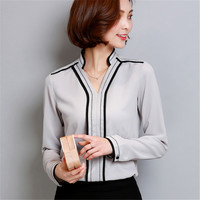 New 2017 Fashion Casual V Neck Long Sleeved Women Blouse Elegant Chiffon Shirt Plus Size Women's Blusas Office Work Wear Tops-in Blouses & Shirts from Women's Clothing & Accessories on Aliexpress.com | Alibaba Group