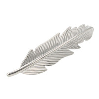 Silver Feather Barrette Clip