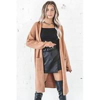 Free Falling Rust Long Cardigan
