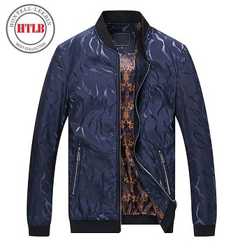 HTLB 2017 Brand New Fashion Designer Pattern Spring Autumn Jacket Men Brand Coat MA1 AirForce Casual Bomber Jackets Male