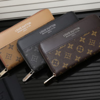 LV Long leather fashion Zipper Wallet [305697390621]