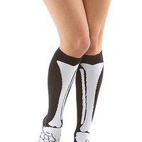 *Accessories Boutique The Bone Knee High Sock