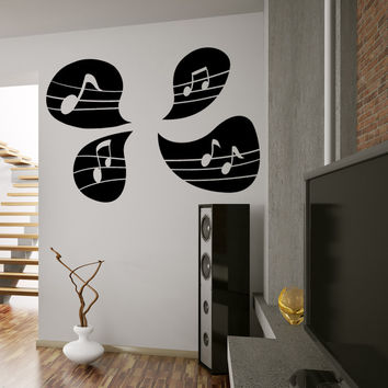 Vinyl Wall Decal Sticker Music Note Speech Bubbles #OS_MB1245